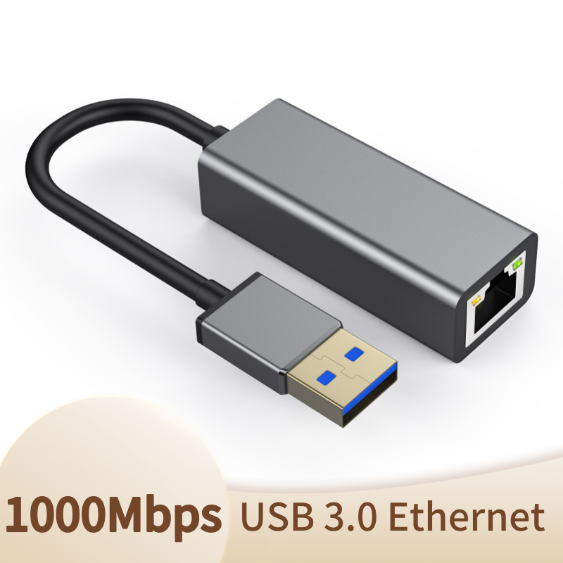 <font><b>USB</b></font> 3.0 <font><b>to</b></font> <font><b>RJ45</b></font> Network Card <font><b>Lan</b></font> Adapter 10/100/<font><b>1000</b></font> Mbps <font><b>Ethernet</b></font> Adapter Realtek RTL8153 For Tablet PC Win 7 8 10 XP image