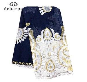 Image 5 - 2019 New African Women Scarf, Muslim embroidery soft cotton Splicing big scarf, Shawls wraps pashmina turban EC092