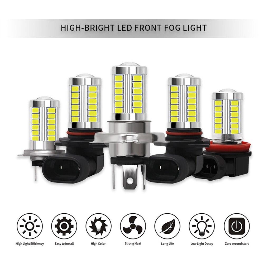 Автомобильный H8 H11 светодиодный 9005 HB3 9006 HB4 H4 H7 5630 33SMD противотуманные лампы дневного света светильник лампы поворот Парковка лампы 12V головно...
