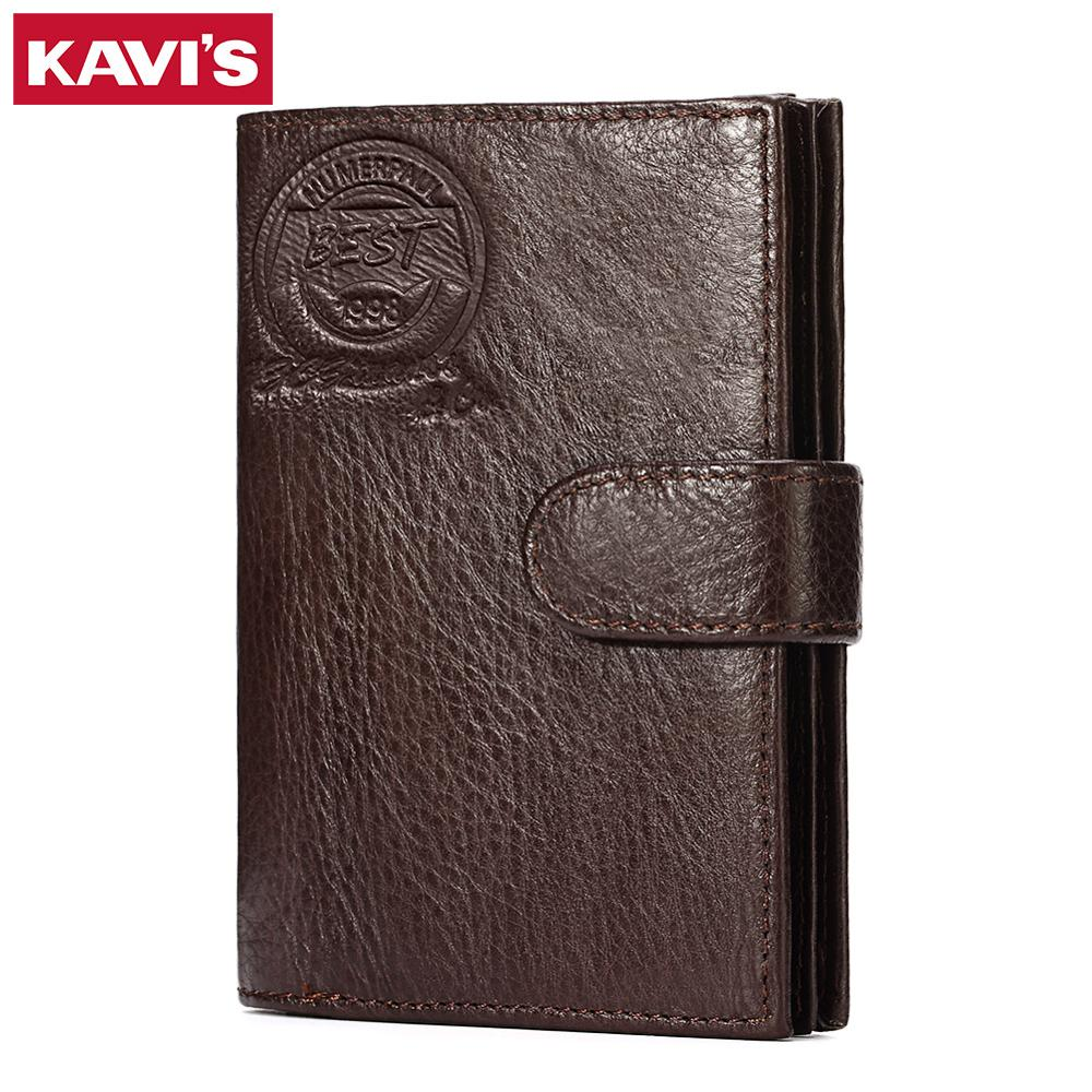 Image 3 - KAVIS Genuine Leather Wallet Men Passport Holder Coin Purse Magic Walet PORTFOLIO MAN Portomonee Mini Vallet Passport Covergenuine leather wallet menleather wallet menportfolio men -