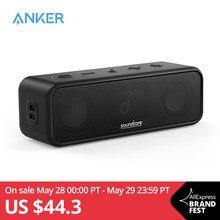 Soundcore-Altavoz Bluetooth 3 con sonido estéreo, controladores de diafragma de titanio puro, tecnología PartyCast, BassUp, duración de reproducción de 24H