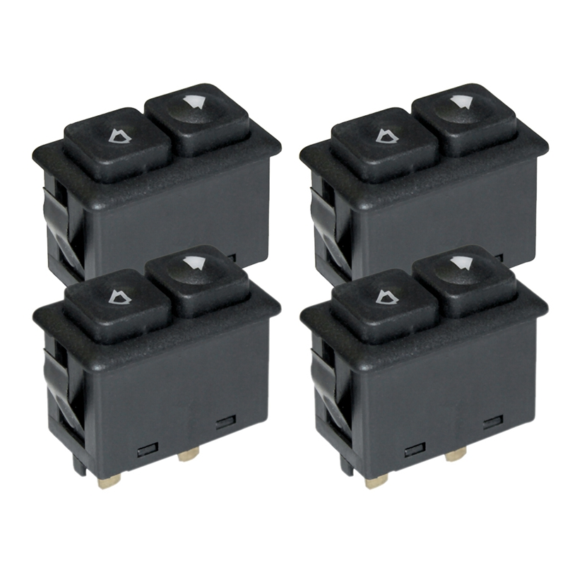 4Pcs Power Window Sunroof Switch Illuminated For Bmw E30 E24 E28 From 09/1986 61311381205 / 61 31 1 381 205