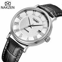 Nakzen miyota 9015 relógio mecânico automático dos homens 2019 relógio de pulso quente marca luxo relógio de pulso de vidro safira relogio masculino