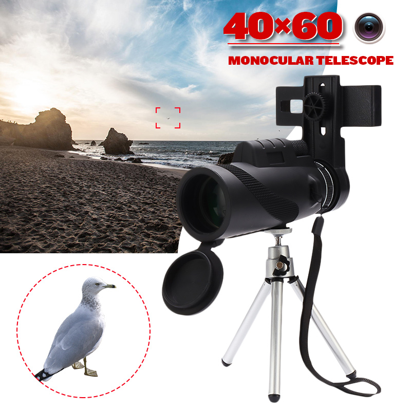 40X60 Black Binoculars Micro Night Vision High Quality Zoom Handheld Telescope Military HD Professional Camping Hunting|Spotting Scopes| |  - title=