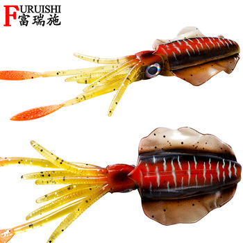 Sea Fishing Luminious Squid Soft Bait Fishing Lure Saltwater Fishing 15cm 20g image