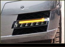 цена на Car For Mercedes Benz GLK 300 GLK350 GLK500 2008 - 2012 Yellow Trun Signal LED DRL Daytime Running Light Fog Head Lamp