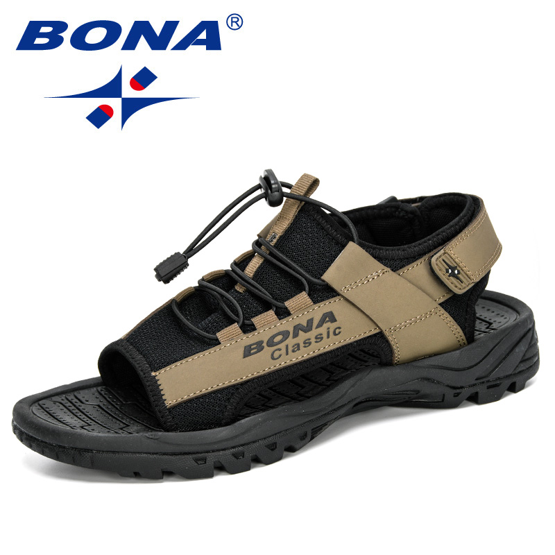BONA 2020 New Designers Casual Roman Shoes Cow Split Mens Sandals Summer Comfortable Light Sandalias Man Sport Sandals Hombre|Men's Sandals| |  -