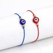 Ручной работы Красная Нить сглаза браслет Femme Плетеный нить Веревка Шарм Ювелирный женский браслет подарок