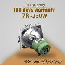Trasporto libero 7r 230w lampada della lampadina per claypaky sharpy luce in movimento della testa