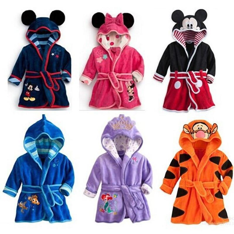 2019 New Style Autumn And Winter CHILDREN'S Cartoon Home Bathrobe Flannel Men And Women Coat Childrenswear
