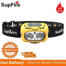 Supfire hl05 s мощный налобный фонарь для рыбалки кемпинга туризма