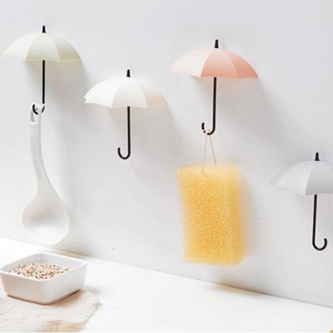 3pcs/lot Umbrella Shaped Creative Key Hanger Rack Home Decorative Holder Wall Hook For Kitchen Organizer Bathroom Accessories