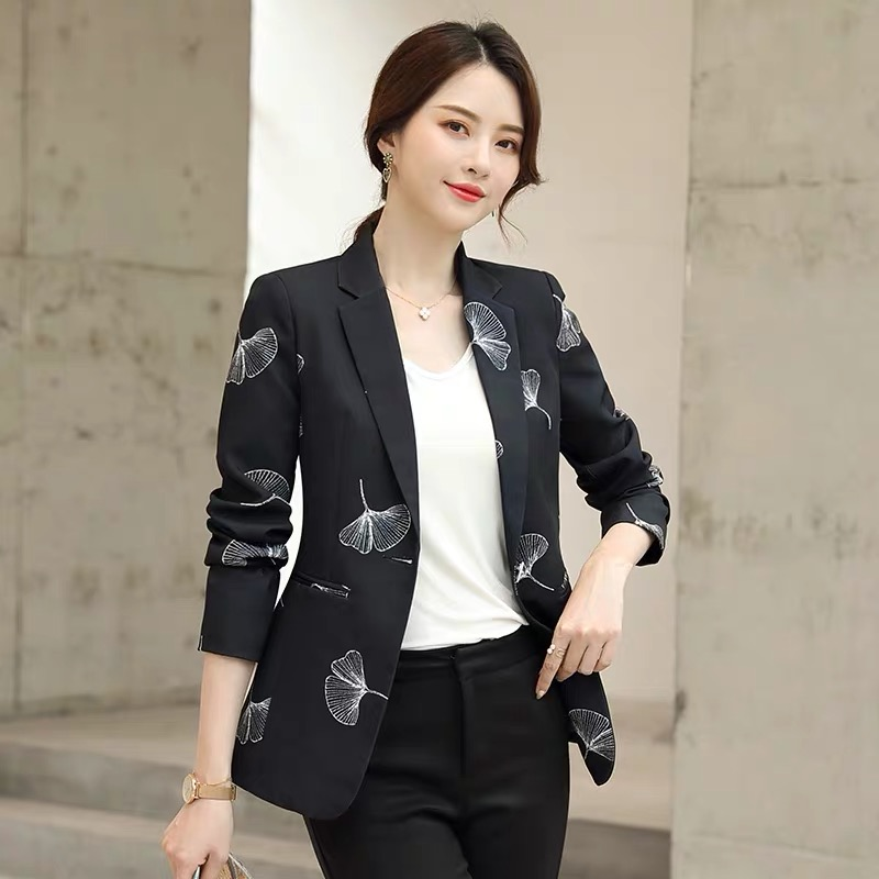 Women's Temperament Small Suit Jacket Female 2019 Autumn New Korean Slim Fashion Retro Blazer
