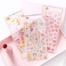 1 лист милый узор Дизайн Кристалл 3D наклейки самоклеящиеся декоративные наклейки для детей мобильные украшения Скрапбукинг