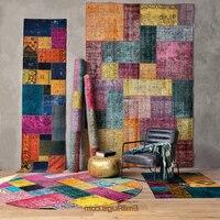 Tapete kilim tecido à mão feito malha em casa para sala de estar tapetes de tricô de lã turca geométrica