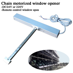 DC 24V 220V Single Chain Home window opener motor Automatic close/open Remote control Skylight/basement/Greenhouse/Hospital