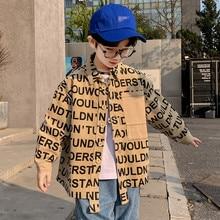 Blouse Shirts Clothing Jacket Tops Spring Boys Kids Long-Sleeved Children's New Letter