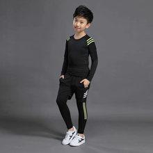 Детский боксерский компрессионный комплект из джерси и брюк