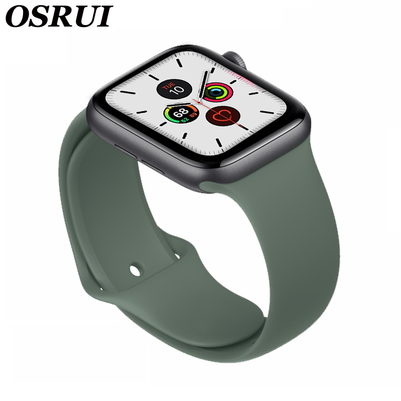 Silicone Band For Apple Watch Strap 42mm 38mm 5 4 44mm 40mm Sport Correa Iwatch 4 3 2 Bracelet Pulseira Aple Watch Accessories