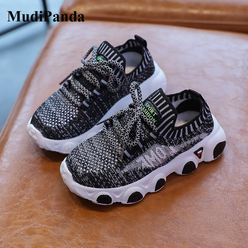 Mudipanda Kids Sneakers 2020 Autumm Mesh Breathable Children Baby Girl Boys Soft Non-Slip <font><b>Eva</b></font> Sole <font><b>Material</b></font> Running <font><b>Shoes</b></font> image