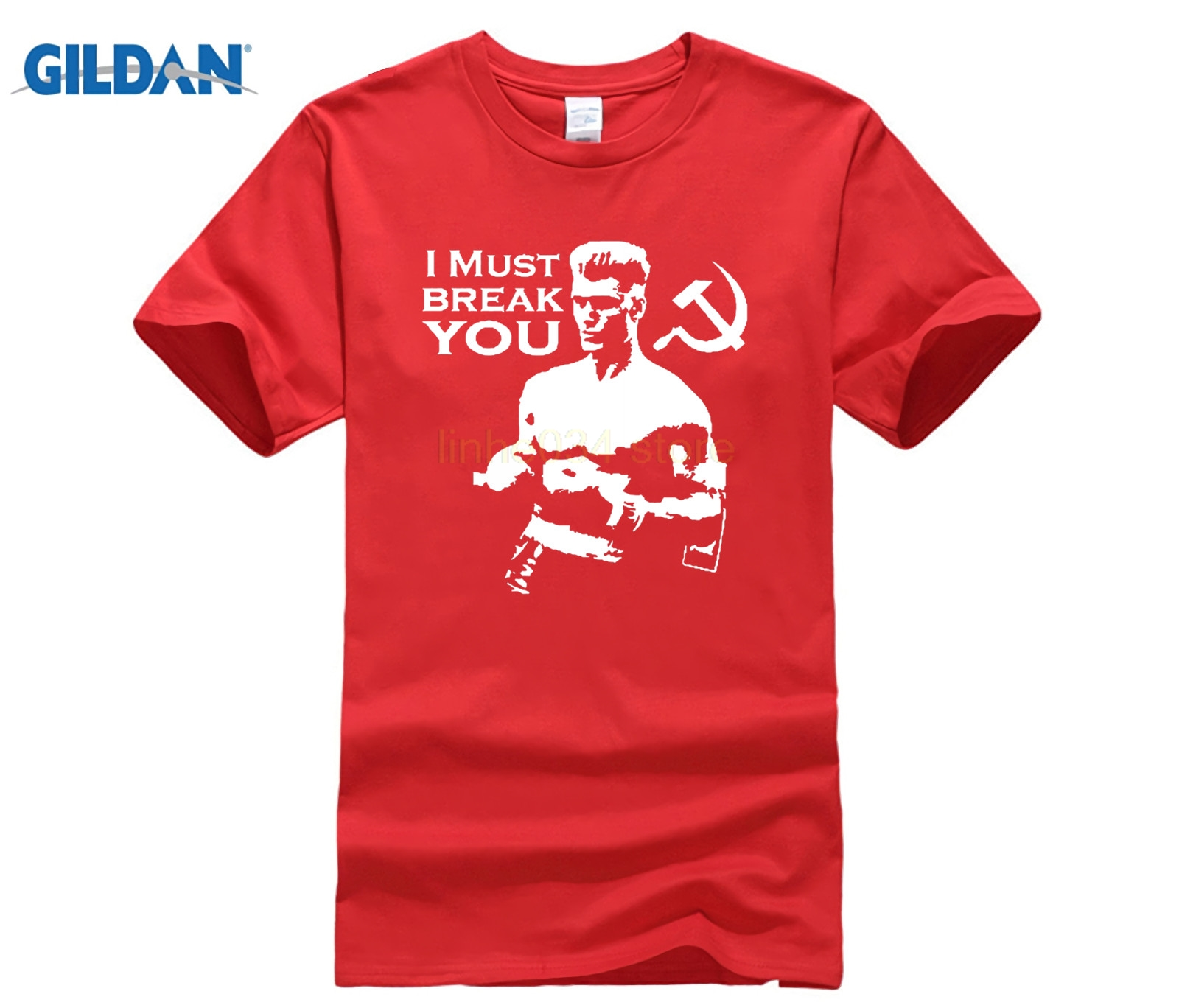 PHIKING Ivan Drago Rocky Iv Russian Quotes Boxinger Movie T Shirt T shirt image