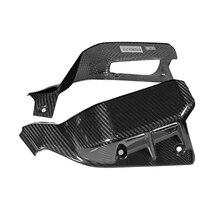 Neue 100% Carbon Fiber Motorrad Heizkörper Seite Abdeckung Oberen Seite Panels Für Ducati Scrambler 2019 2020 Motorrad Teil