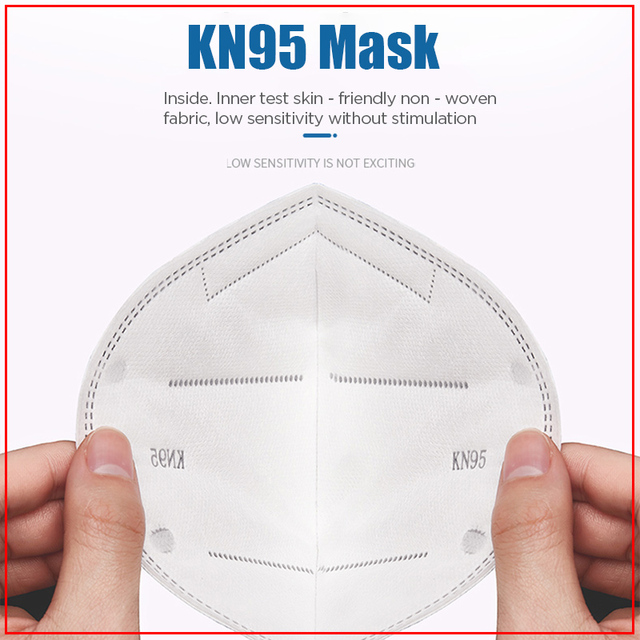 100PCS N95 N99 Reusable Valved Face Mask 5 Layers Filter Bacterial Flu Protection Face Mask Mouth Cover Pm2.5 Anti-Dust Masks 19 3