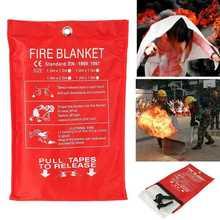 В случае пожара, при пожаре одеяло для выживания из стекловолокна, Защитная крышка для дома, кухни, кемпинга OUJ99