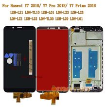 LCD Screen For Huawei Y7 2018/Y7 Prime 2018/ Y7 Pro 2018 LDN-L21 LDN-LX3 LDN-L01 LCD LDN L21 LX3 TL10 Touch Screen Glass Frame(China)