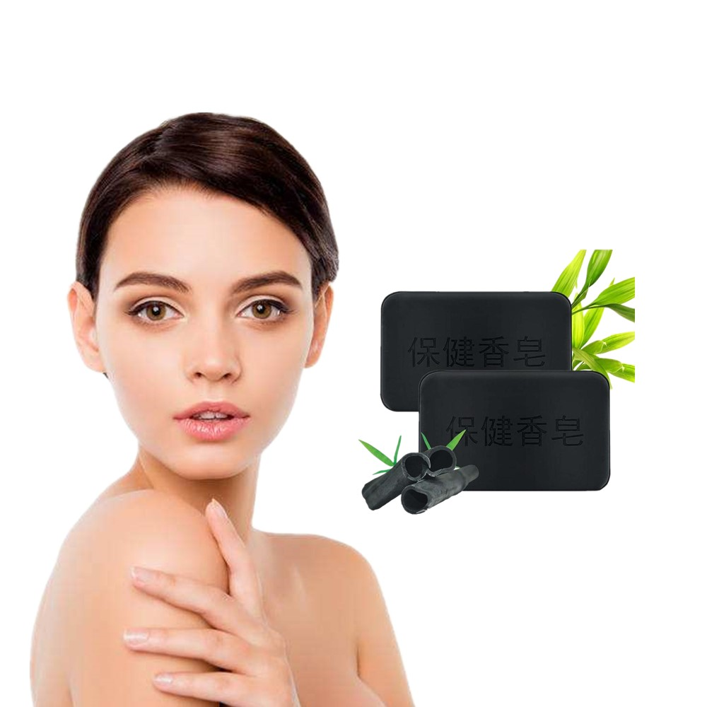 Antioxidant Wrinkle Removing Soap Cleans Facial Hair, Bathes Natural Black Bamboo Charcoal Mask Soap Whitening And Moisturizing