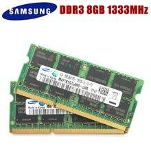 Samsung ddr3 8gb 4gb 2gb 1gb pc3 10600s 1333 mhz PC3-10600S 8g 4g 2g 1g 1333 mhz computador portátil memória notebook módulo sodimm ram