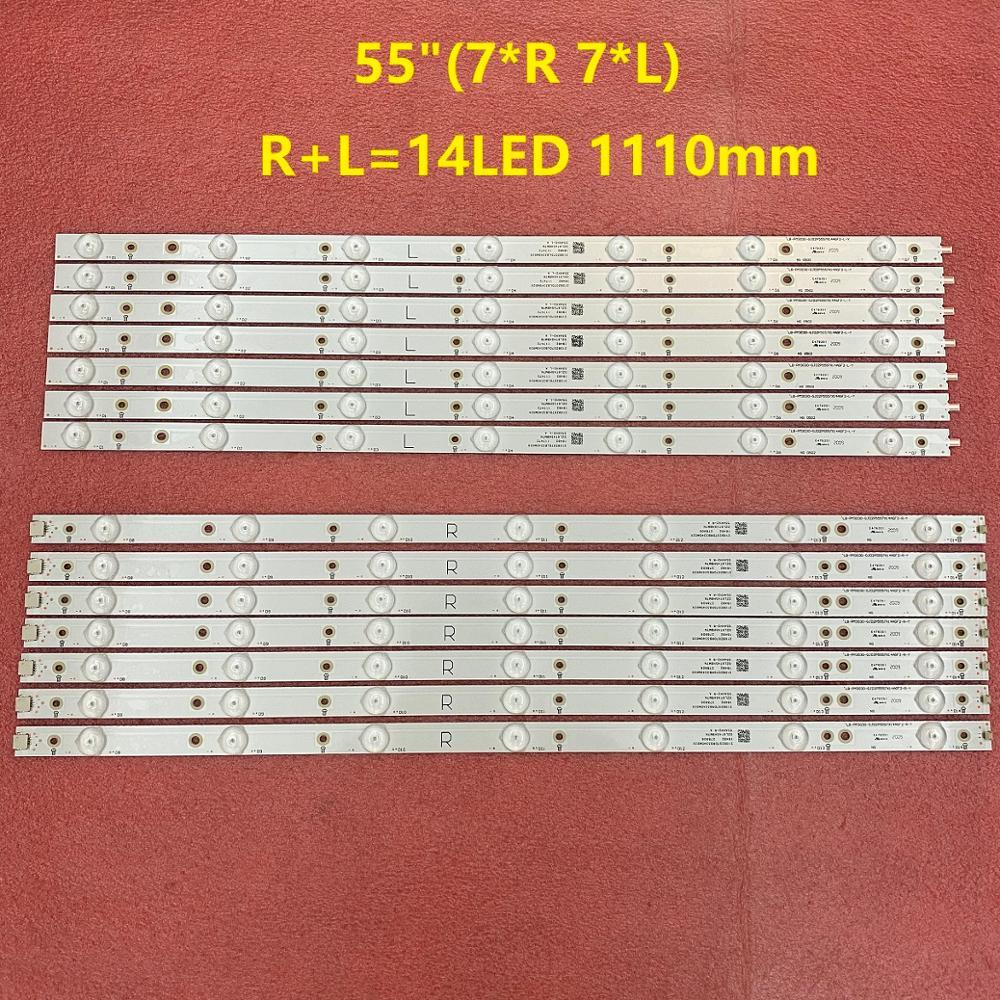 LED Backlight Strip(14)for 55PFF5701 55PUS6501 GJ-2K16-550-D714-V4-R  L S1 55PUH6101 55PUS6581 55PUS6561 55PUS6101 01N32 01N31-A