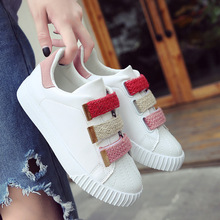 Spring Autumn New Fashion Sneakers Shoes Womens Classics Brand Design Woman Flats Casual Loafers Ladies Middle Heels Flat Shoes ggob 2018 womens flats outdoor walking white canvas shoes ladies casual women loafers brand fashion black high gang flat with