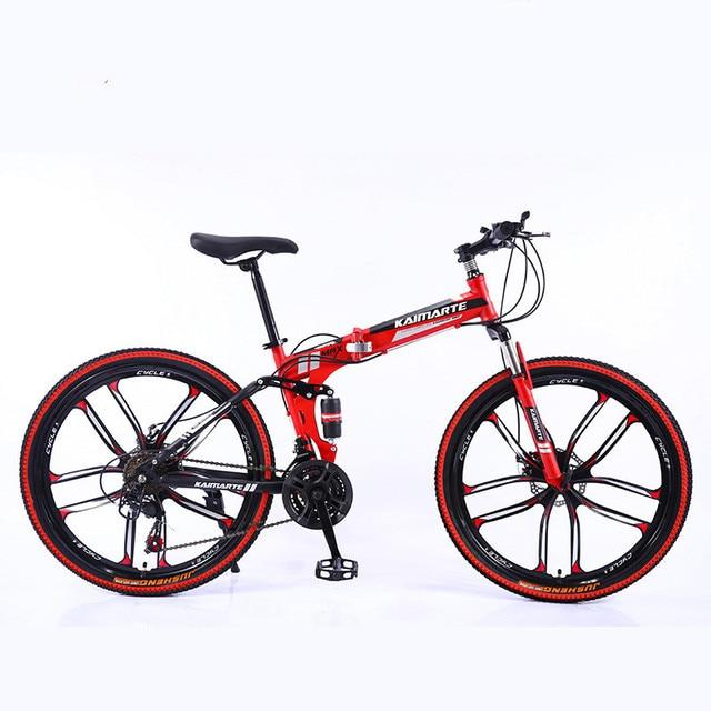 Heavy Duty Folding Mountain Bike 5