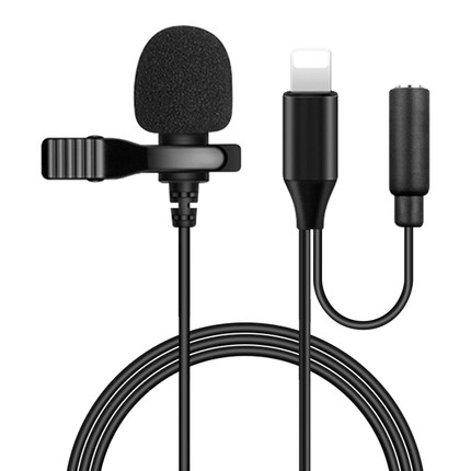 Мини-микрофон для iPhone, портативный микрофон с креплением на лацкане для iPhone, iPad, Xiaomi, смартфонов на Android, DSLR, камер, ПК, ноутбуков