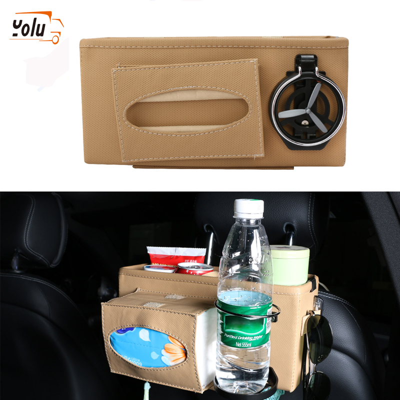 YOLU Car Seat Crevice Storage Box Cup Drink Holder Organizer Auto Gap Pocket Tidying for Phone Card Coin Case Accessories in Stowing Tidying from Automobiles Motorcycles