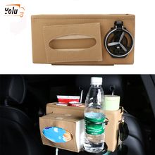 YOLU Car Seat Crevice Storage Box Cup Drink Holder Organizer Auto Gap Pocket Tidying for Phone Card Coin Case Accessories