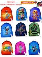Рюкзак для детей, ранец для детей с героями из мультфильма «Звездная игра», «Спайк», Шелли, Леон, Примо, мортис, детский рюкзак, игрушки для ма...