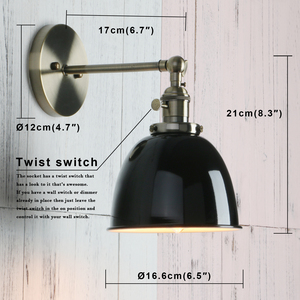 Image 5 - Permo Vintage wandlamp 6.5 Wall Lamps Black Modern Wall Sconce Industrial Stair Wall Light Fixtures New Year Christmas Decor