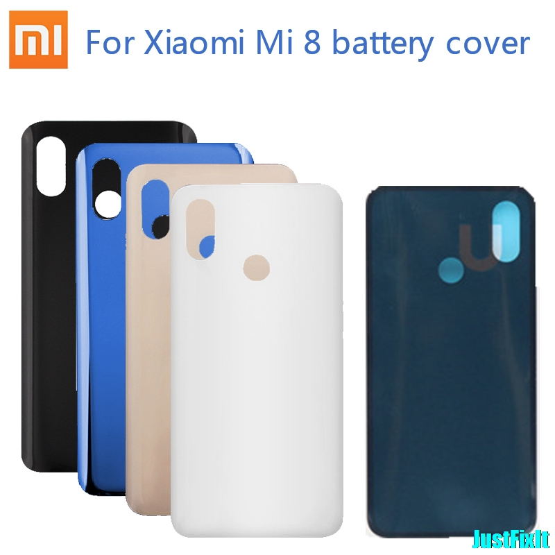 Original Battery Cover For Xiaomi Mi 8 Back Glass Cover Back Door Replacement For Mi8 Battery Cover Case, Rear Housing Cover