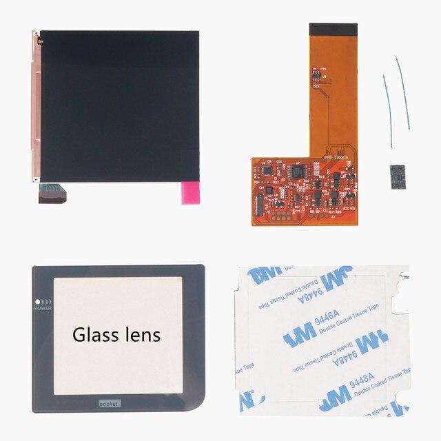Funnyplay ل GBP/GBL IPS LCD ريترو بكسل عدة عالية ضوء الخلفية سطوع 36 تركيبات الألوان الرجعية ل جيب GAMEBOY