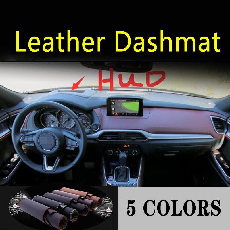 Dla mazda cx9 cx-9 G2 2016 2017 2018 2019 2020 skóra Dashmat pokrywa deski rozdzielczej mata na deskę rozdzielczą dywan akcesoria samochodowe do stylizacji