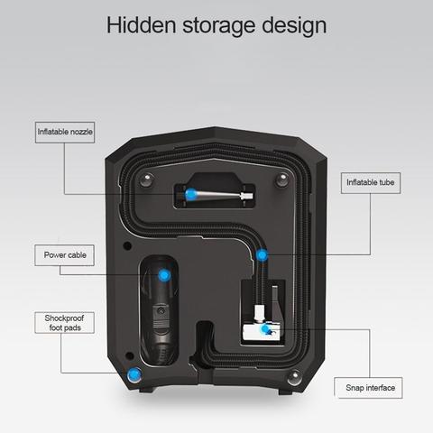 12v portatil compressor de ar digital carro
