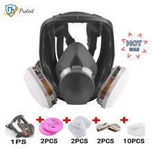 Mascarilla para fumigación 7 en 1 2 en 1, máscara facial con filtro de trabajo de seguridad, antipolvo, 3M de reemplazo, 6800