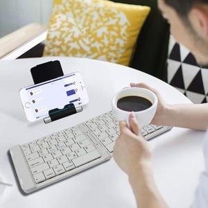 Image 3 - Rii K09 przenośna skórzana składana Mini Bluetooth hiszpańska klawiatura składana na iphonea, telefon z androidem, Tablet,ipad,PC