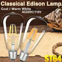 TSLEEN-bombilla de filamento Retro ST64, 4W, 8W, 12W, 16W, Vintage Edison, lámpara Led E27, 220V, 110V, decoración de luces Led para interiores