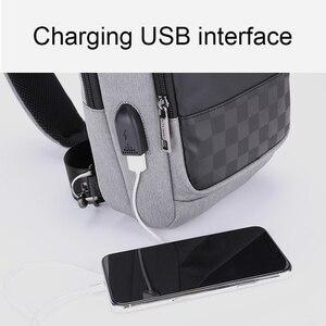 Image 4 - ARCTIC HUNTER 2020 USB su geçirmez erkek göğüs çantası erkek eğlence Messenger omuz gençler için çanta seyahat Crossbody Bolsas