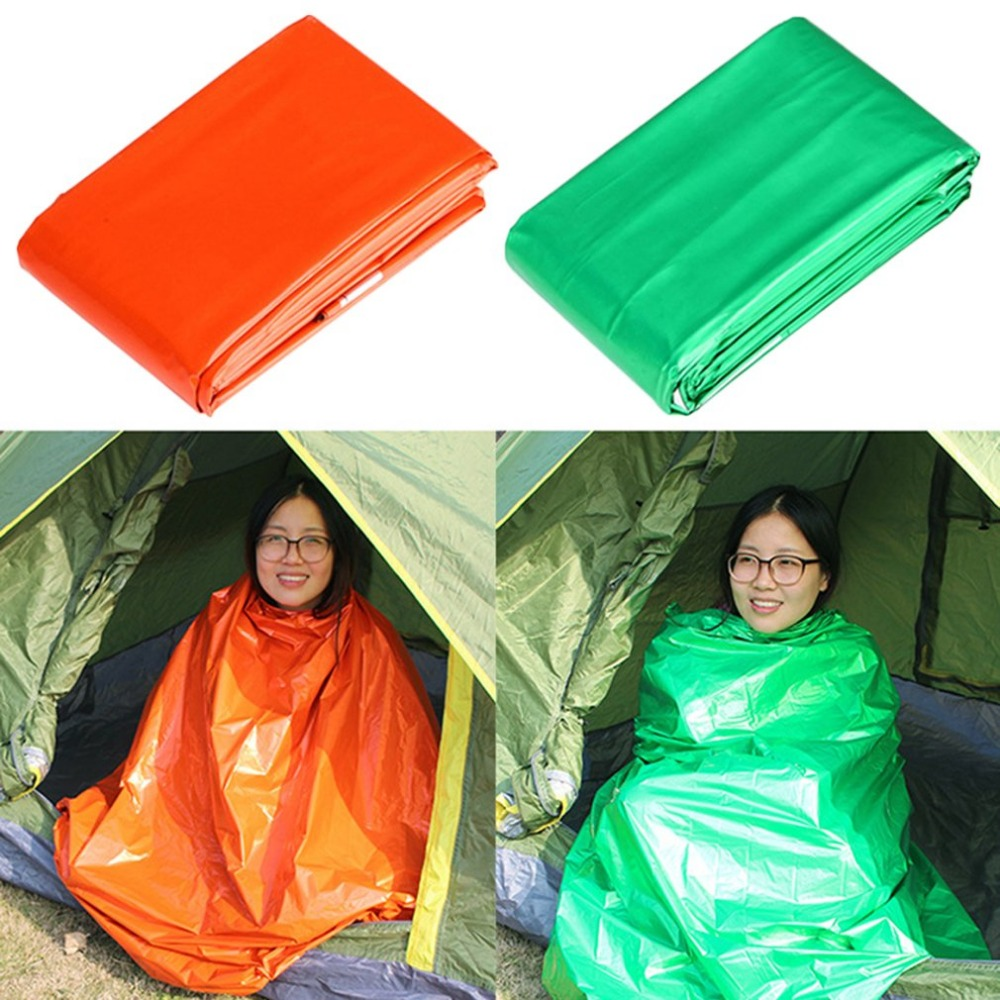 2.1*1.3m Camping Portable Emergency Blanket First Aid Survival Rescue Curtain Life-Saving Tent Tools Outdoor Survive Orange Tool
