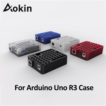 цена на Aokin For Arduino Uno R3 Case Enclosure Transparent /Red/White/Blue Case Acrylic Box Shell for Arduino UNO R3 Protective Case