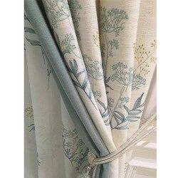 High EndNew chiński styl bawełniane i lniane haftowane zasłony ekrany do sypialni salon badania cieniowania zasłony
